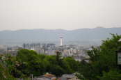 kyoto tower from kiyomizudera